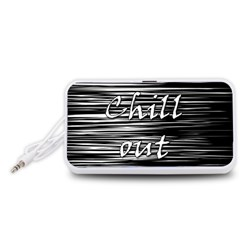 Black an white  Chill out  Portable Speaker (White)