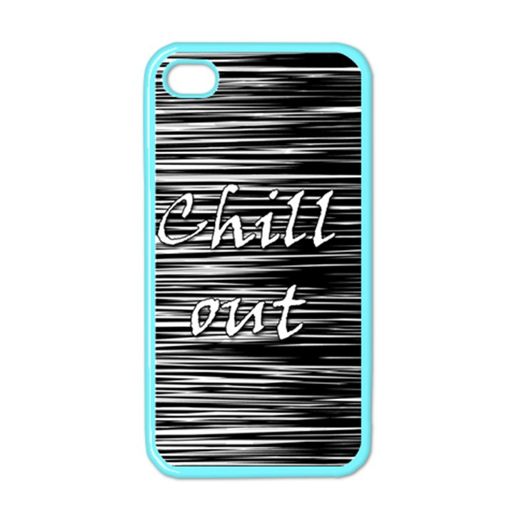 Black an white  Chill out  Apple iPhone 4 Case (Color)