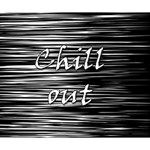 Black an white  Chill out  Deluxe Canvas 14  x 11  14  x 11  x 1.5  Stretched Canvas