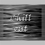 Black an white  Chill out  Deluxe Canvas 16  x 12   16  x 12  x 1.5  Stretched Canvas