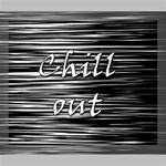 Black an white  Chill out  Deluxe Canvas 24  x 20   24  x 20  x 1.5  Stretched Canvas