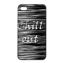 Black an white  Chill out  Apple iPhone 4/4s Seamless Case (Black)