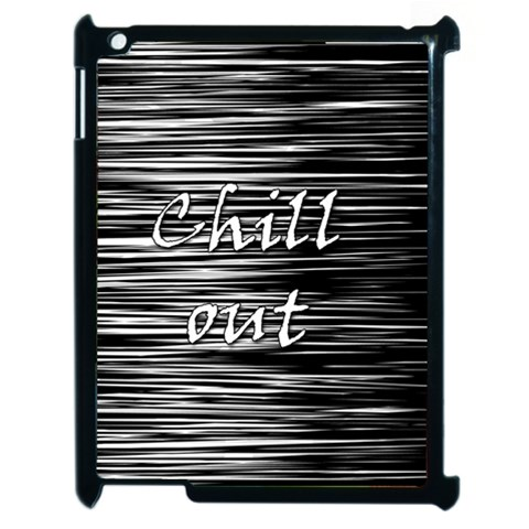 Black an white  Chill out  Apple iPad 2 Case (Black)