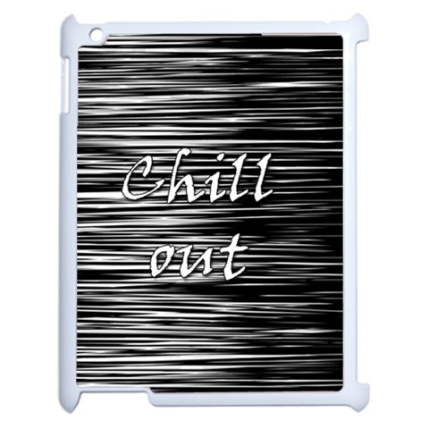 Black an white  Chill out  Apple iPad 2 Case (White)