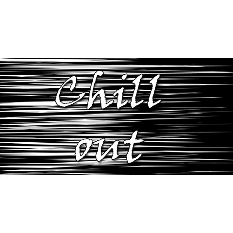 Black an white  Chill out  YOU ARE INVITED 3D Greeting Card (8x4)