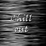 Black an white  Chill out  SORRY 3D Greeting Card (8x4) Inside