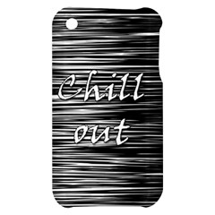 Black an white  Chill out  Apple iPhone 3G/3GS Hardshell Case