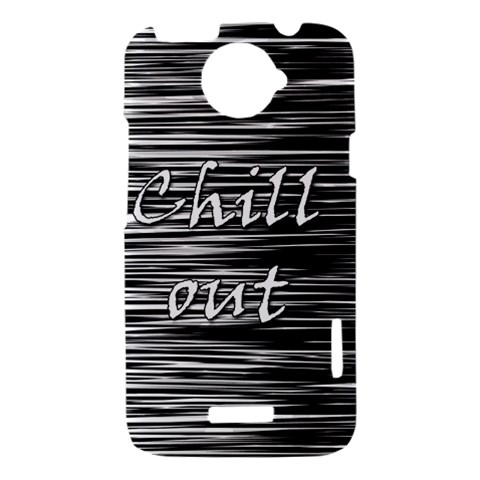 Black an white  Chill out  HTC One X Hardshell Case