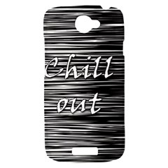 Black an white  Chill out  HTC One S Hardshell Case