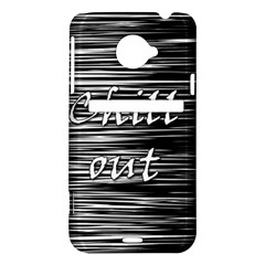 Black an white  Chill out  HTC Evo 4G LTE Hardshell Case