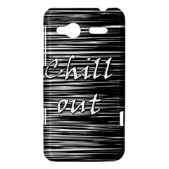 Black an white  Chill out  HTC Radar Hardshell Case