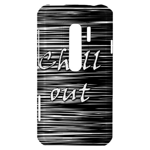 Black an white  Chill out  HTC Evo 3D Hardshell Case
