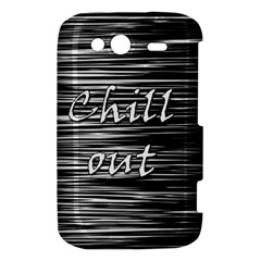Black an white  Chill out  HTC Wildfire S A510e Hardshell Case