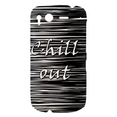 Black an white  Chill out  HTC Desire S Hardshell Case