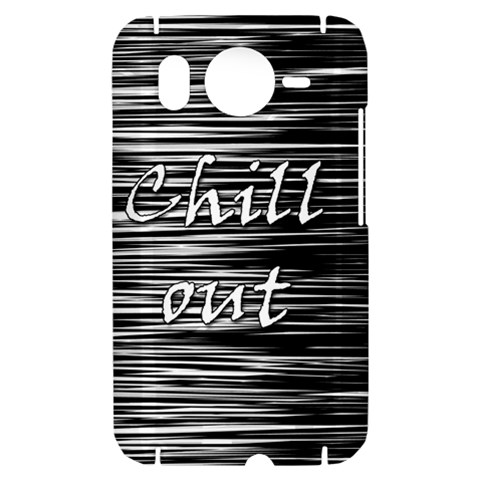 Black an white  Chill out  HTC Desire HD Hardshell Case