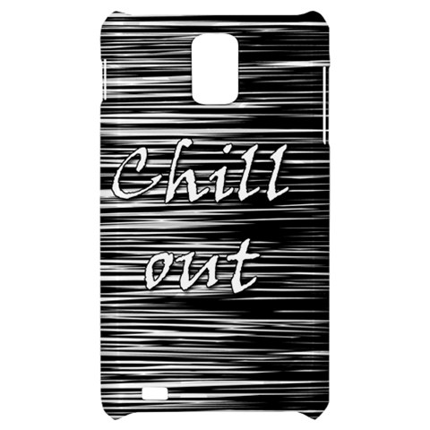Black an white  Chill out  Samsung Infuse 4G Hardshell Case