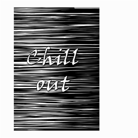Black an white  Chill out  Small Garden Flag (Two Sides)