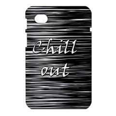 Black an white  Chill out  Samsung Galaxy Tab 7  P1000 Hardshell Case
