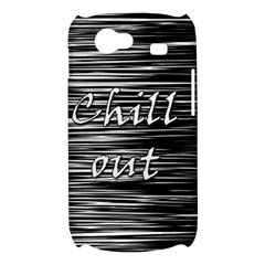 Black an white  Chill out  Samsung Galaxy Nexus S i9020 Hardshell Case