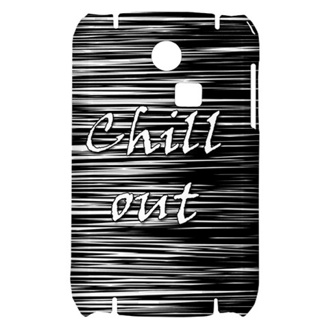 Black an white  Chill out  Samsung S3350 Hardshell Case