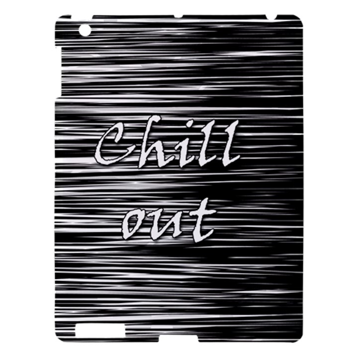 Black an white  Chill out  Apple iPad 3/4 Hardshell Case