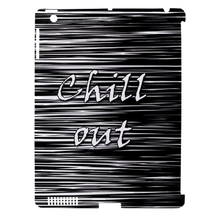 Black an white  Chill out  Apple iPad 3/4 Hardshell Case (Compatible with Smart Cover)