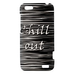 Black an white  Chill out  HTC One V Hardshell Case