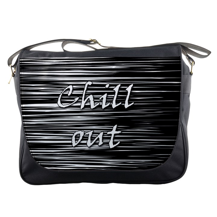 Black an white  Chill out  Messenger Bags
