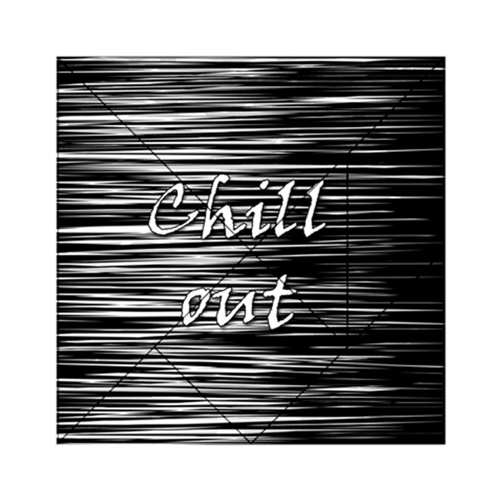 Black an white  Chill out  Acrylic Tangram Puzzle (6  x 6 )