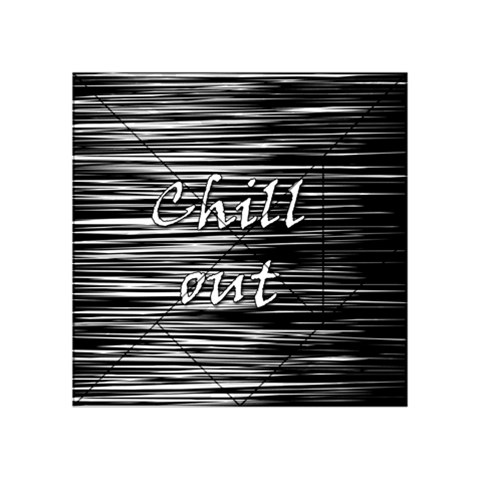 Black an white  Chill out  Acrylic Tangram Puzzle (4  x 4 )