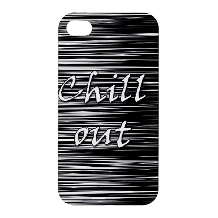Black an white  Chill out  Apple iPhone 4/4S Premium Hardshell Case