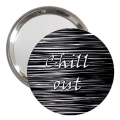 Black an white  Chill out  3  Handbag Mirrors