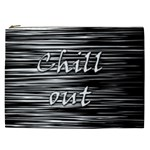 Black an white  Chill out  Cosmetic Bag (XXL)  Front