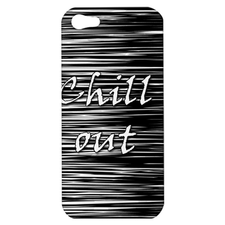 Black an white  Chill out  Apple iPhone 5 Hardshell Case