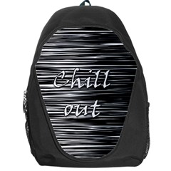 Black an white  Chill out  Backpack Bag