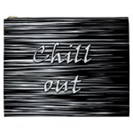 Black an white  Chill out  Cosmetic Bag (XXXL)  Front