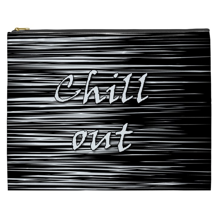 Black an white  Chill out  Cosmetic Bag (XXXL)