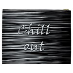 Black an white  Chill out  Cosmetic Bag (XXXL)  Back