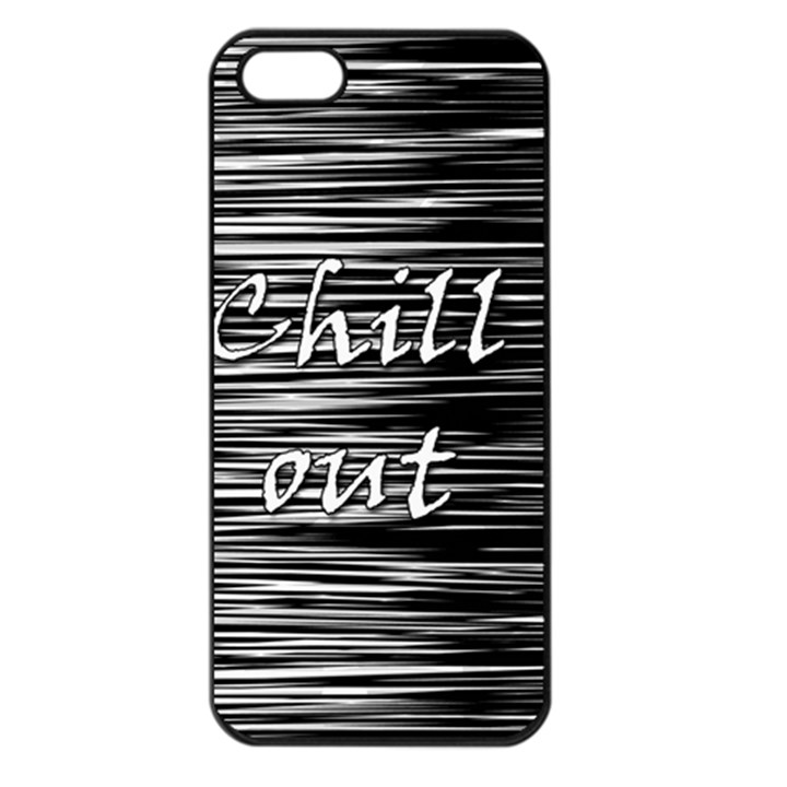 Black an white  Chill out  Apple iPhone 5 Seamless Case (Black)