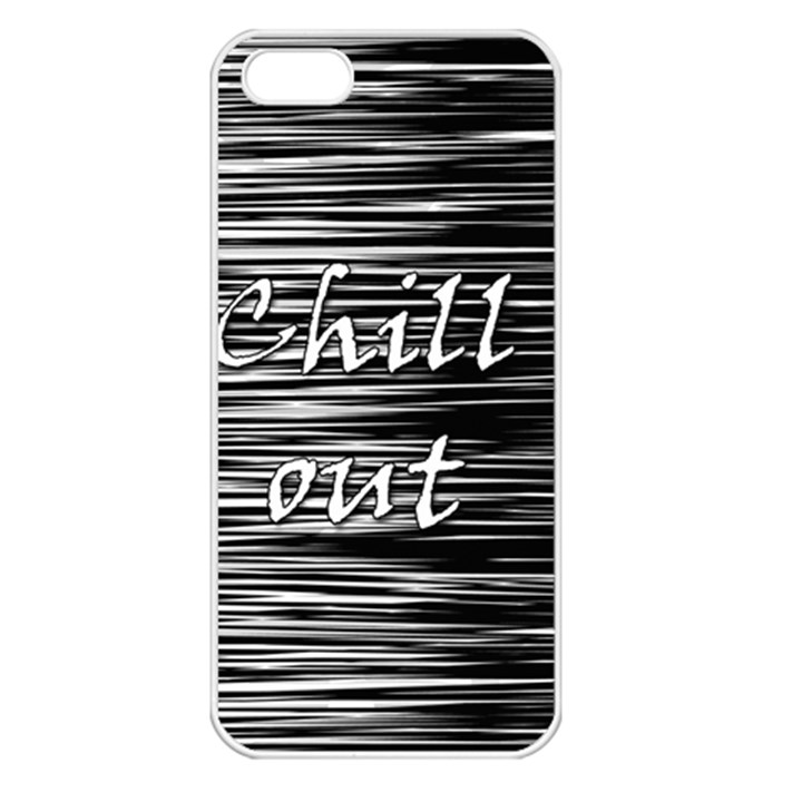 Black an white  Chill out  Apple iPhone 5 Seamless Case (White)