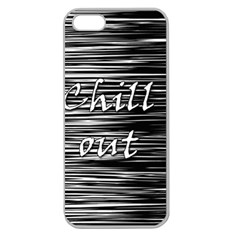 Black An White  chill Out  Apple Seamless Iphone 5 Case (clear)