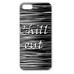 Black an white  Chill out  Apple Seamless iPhone 5 Case (Clear) Front