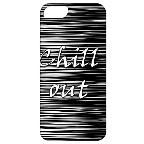 Black an white  Chill out  Apple iPhone 5 Classic Hardshell Case