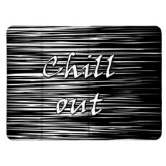 Black an white  Chill out  Kindle Fire (1st Gen) Flip Case