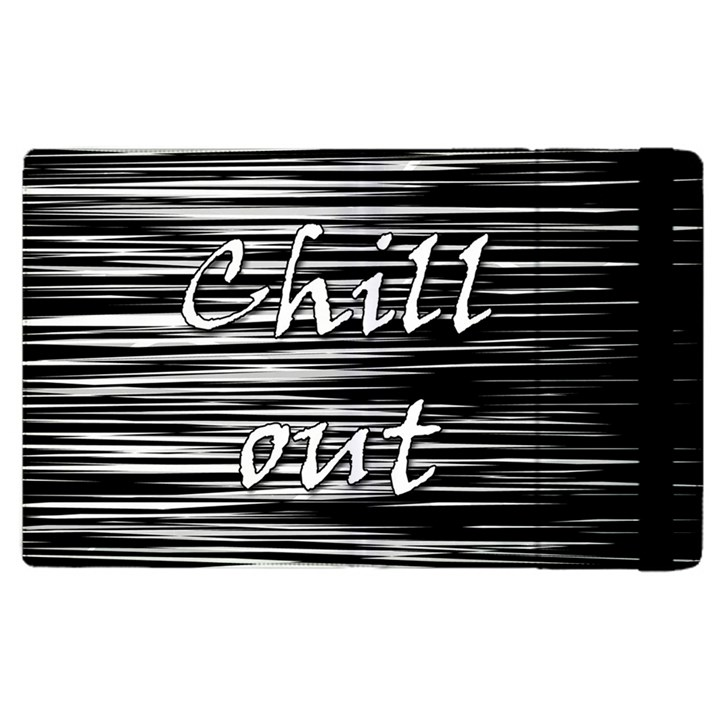 Black an white  Chill out  Apple iPad 3/4 Flip Case