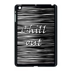 Black An White  chill Out  Apple Ipad Mini Case (black)