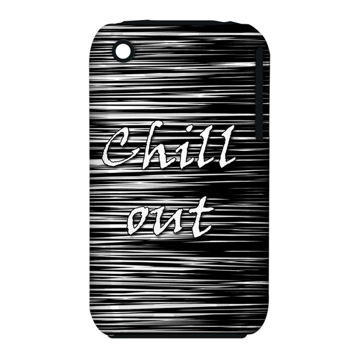 Black an white  Chill out  Apple iPhone 3G/3GS Hardshell Case (PC+Silicone)