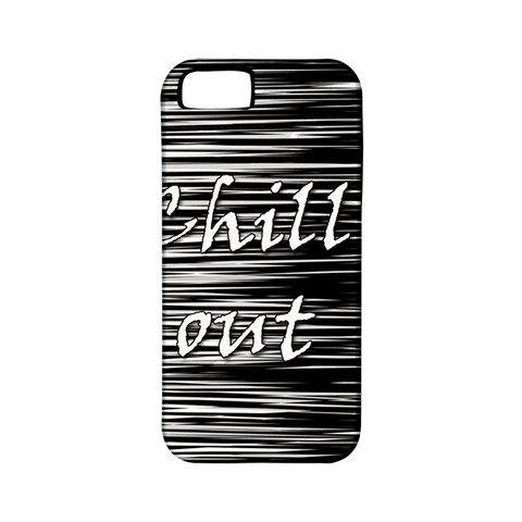 Black an white  Chill out  Apple iPhone 5 Classic Hardshell Case (PC+Silicone)
