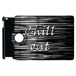 Black an white  Chill out  Apple iPad 2 Flip 360 Case Front