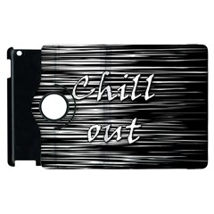 Black An White  chill Out  Apple Ipad 3/4 Flip 360 Case